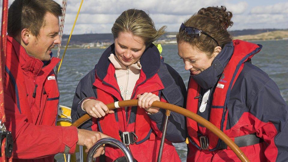 Sailing the ocean blue in Port Solent