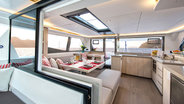 Interior salon view of Sunsail 454W