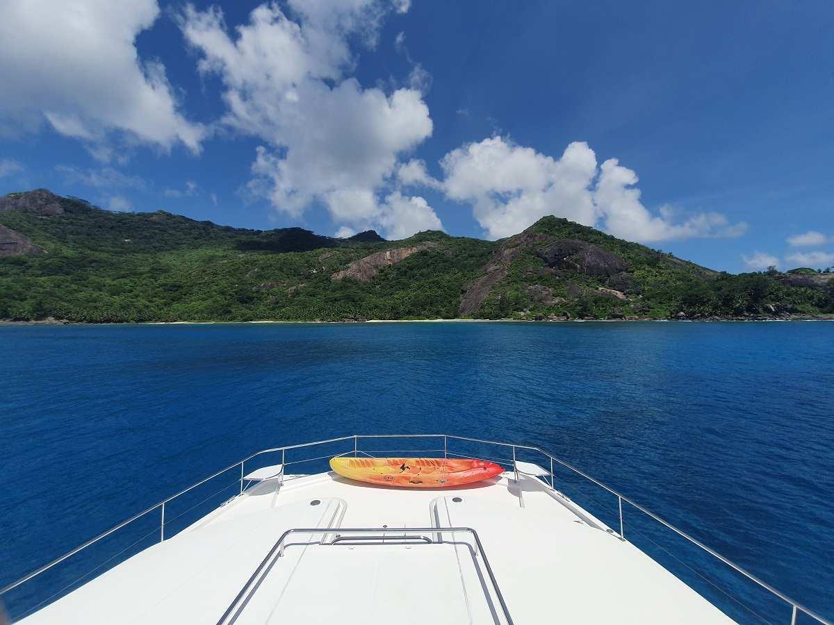 Aankomst op Silhouette op de Seychellen